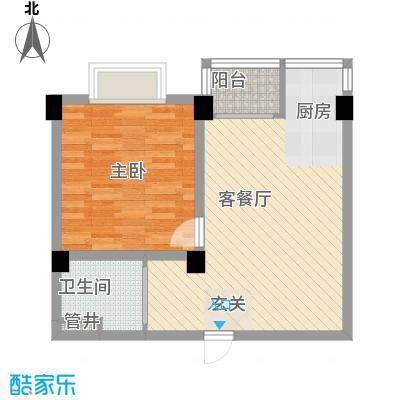 翠逸庭苑65.00㎡户型2室