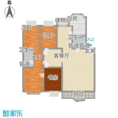 西安锦园22.60㎡K3户型4室3厅2卫1厨