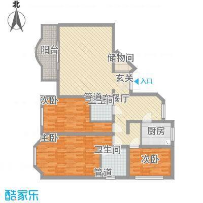 西安锦园157.10㎡G1户型3室2厅2卫1厨