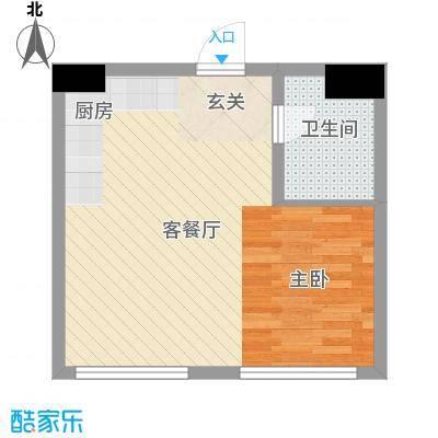 亿泰公寓51.00㎡户型