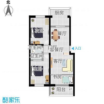 东方花园二期二室改三室2
