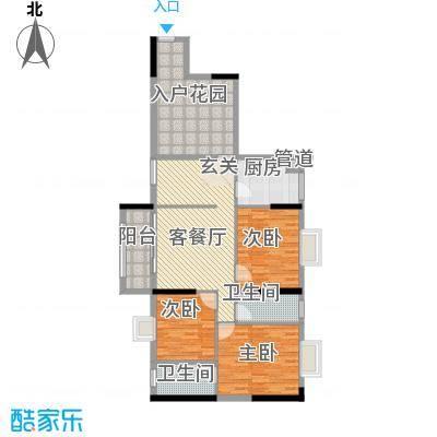 美陶花园112.00㎡9座3-18层标准层03单元户型3室2厅2卫