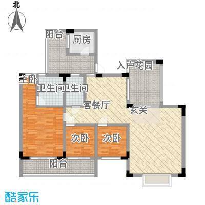易筑118.48㎡13栋4单元0户型3室2厅2卫1厨