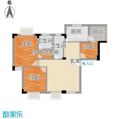 骏雅豪园113.00㎡雅鸣阁2座首层01户型3室2厅2卫