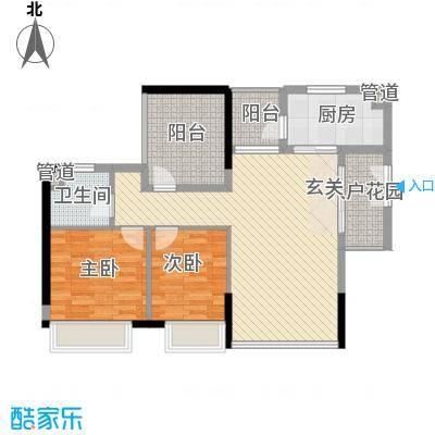 永新湖景苑户型2室