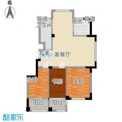 高新・锦绣北山115.30㎡小高层B3户型3室1厅1卫1厨-副本