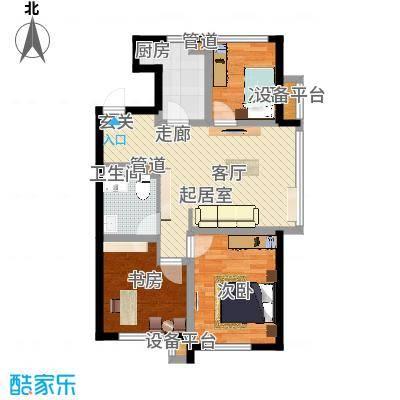 凤河孔雀城146.00㎡高层标准层A3户型-副本