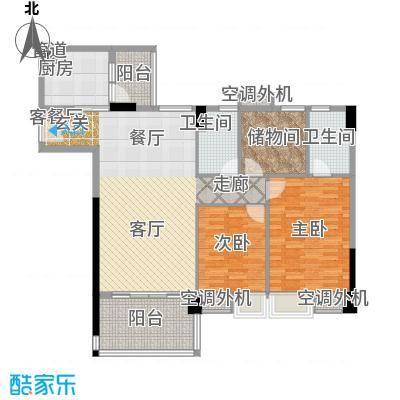 地王广场翰林127.00㎡二单元标准面积12700m户型-副本