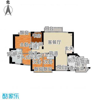 中粮海景壹号340.24㎡4房户型4室2厅4卫1厨-副本