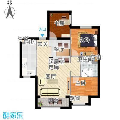 中铁花溪渡93.00㎡3期D户型-副本