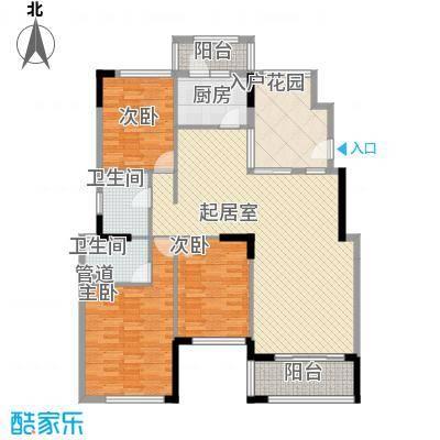 格林童话世界别墅126.00㎡三期洋房B2户型3室2厅2卫-副本