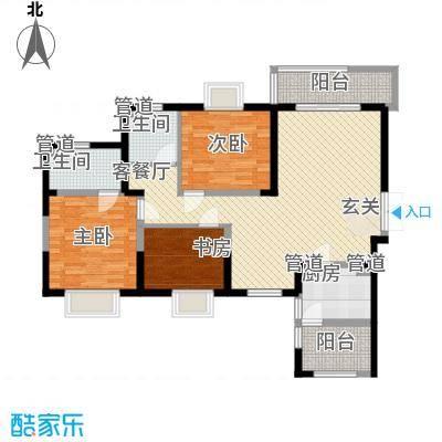 万家灯火123.54㎡万家灯火户型图1#23层1户型3室2厅2卫1厨户型3室2厅2卫1厨-副本