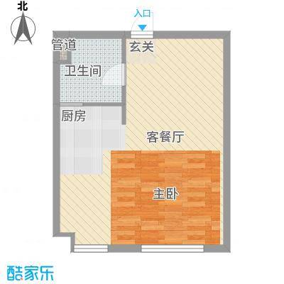 东湖丽景58.41㎡2户型