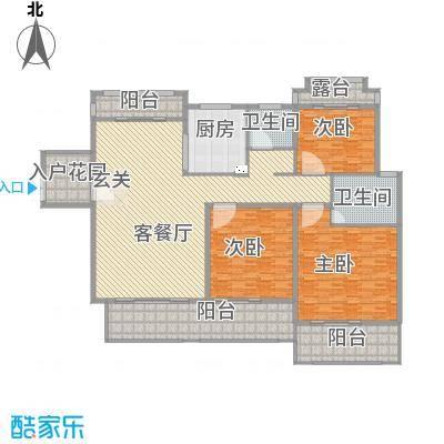 香江帝景313.42㎡户型3室2厅2卫