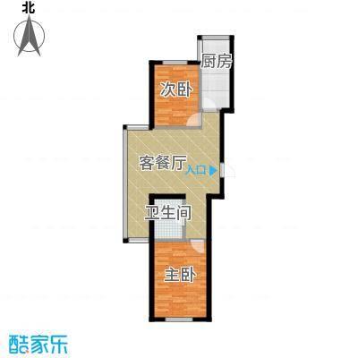 书香人家90.06㎡2号楼户型10室-副本