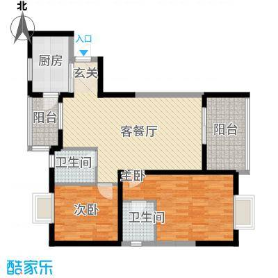 上东风景二期623.16㎡6-2户型2室2厅2卫1厨