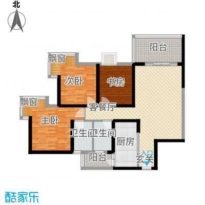 上东风景二期61117.32㎡6-1户型3室2厅2卫1厨