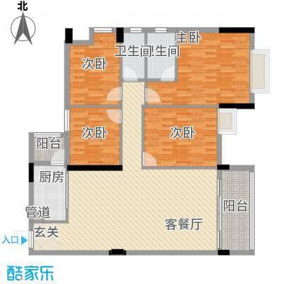 富景花园152.00㎡5/6栋03/04户型4室2厅2卫1厨