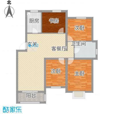 温哥华城・锦绣府邸12.00㎡户型4室2厅1卫