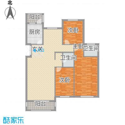 美珠花园3216.20㎡L户型3室2厅2卫1厨