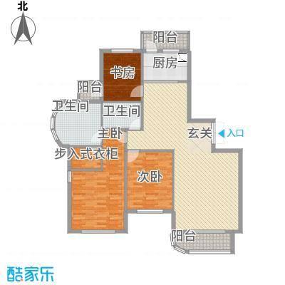 美珠花园3214.22㎡J户型3室2厅2卫1厨