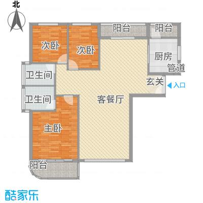 美珠花园32147.34㎡G户型3室2厅2卫1厨
