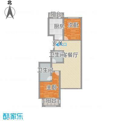 美珠花园22116.84㎡D户型2室2厅2卫1厨