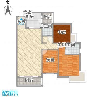 聚福新城2212.42㎡A22户型