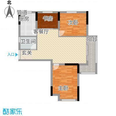 青年城1号15.00㎡105户型3室2厅1卫1厨