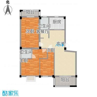 龙登和城114.20㎡图片4户型3室2厅2卫1厨