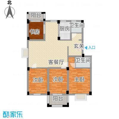 龙登和城115.45㎡和城C1-01户型4室2厅2卫1厨