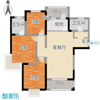 帝都・东城国际12.00㎡2户型3室2厅2卫1厨