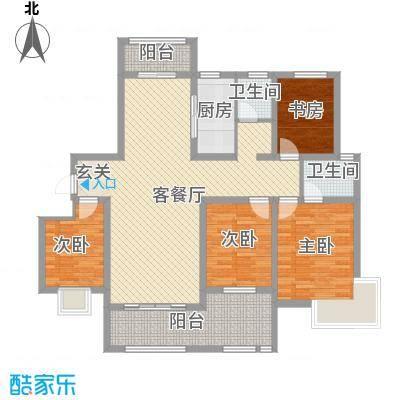 帝都・东城国际146.00㎡4户型4室2厅2卫1厨