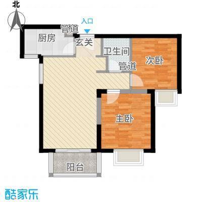 隆兴宜居82.26㎡13#C1-2户型2室2厅1卫1厨