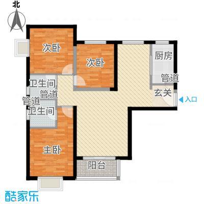 隆兴宜居12.87㎡7户型3室2厅1卫1厨