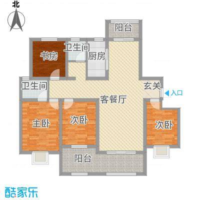 帝都・东城国际14.00㎡1户型4室2厅2卫1厨
