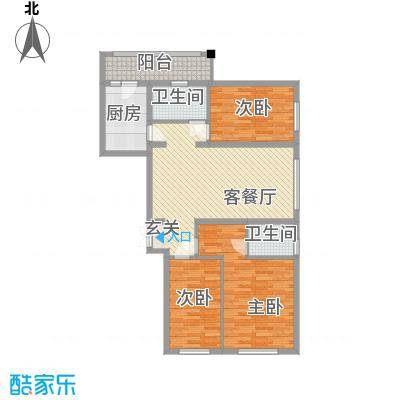欧亚新城13.38㎡13038户型3室1厅2卫1厨