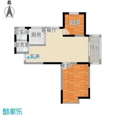 锦绣和庄18.81㎡户型2室2厅1卫1厨