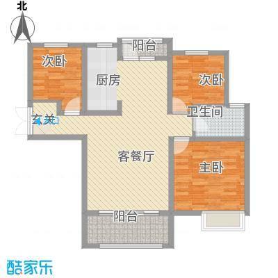 东湖怡景苑115.00㎡C户型3室2厅1卫1厨