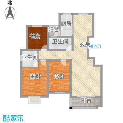 东城名邸13.70㎡D户型3室2厅2卫1厨