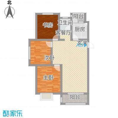 东城名邸1.13㎡B3户型3室2厅1卫1厨