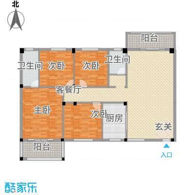 书苑小区158.00㎡户型4室2厅2卫1厨