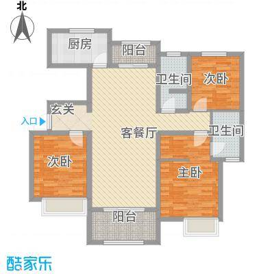 天明城134.13㎡C2户型3室2厅2卫1厨