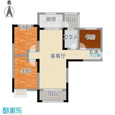 天明城115.00㎡H4户型3室2厅1卫1厨