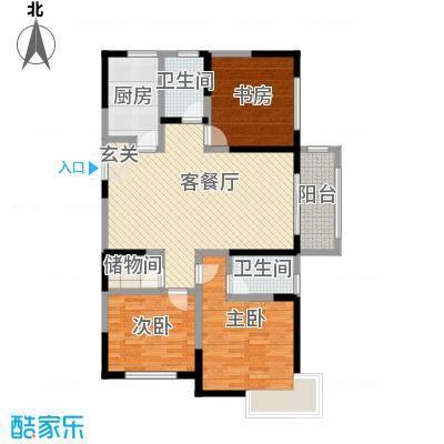 绿地世纪城137.70㎡单页A3完稿户型3室2厅2卫1厨