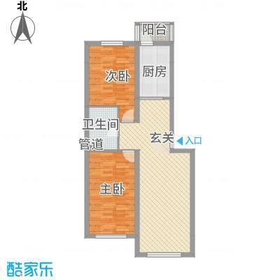 千禧・幸福城85.61㎡B2户型2室2厅1卫
