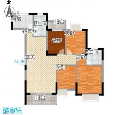 东湖国际城12.00㎡21号楼-a2户型4室2厅2卫1厨