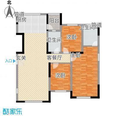 大禹南湖首府一期高层三居户型