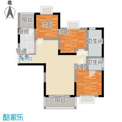 上海城黄浦花苑二期86.20㎡C-户型3室2厅2卫