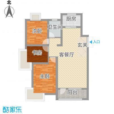 宝地-福湾3115.20㎡F户型3室2厅1卫